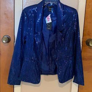 Royal Blue sequence blazer